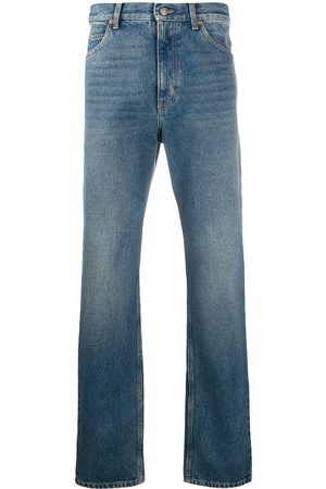 Gucci Tvättade jeans med raka ben