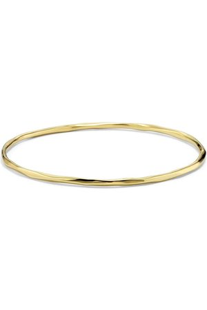 Ippolita 18kt yellow gold thin faceted Classico bangle