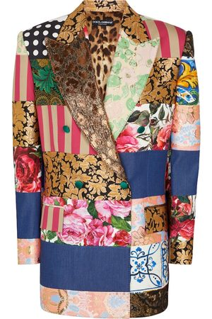 Dolce & Gabbana Double-breasted patchwork blazer