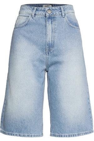 Just Female Kvinna Shorts - Bay Bermuda 0101 Shorts Denim Shorts Blå