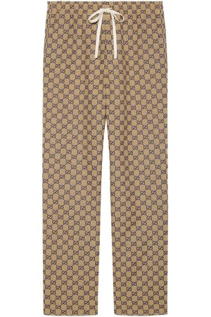 Gucci GG canvas pant with leather Interlocking G