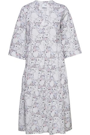 SELECTED Kvinna Midiklänningar - Slfrosella-Florenta 3/4 Midi Dress B Dresses Everyday Dresses