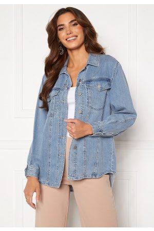 Vero Moda Emery Ls Oversize Denim Shirt Light Blue Denim S