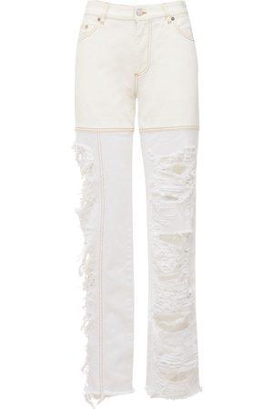 Peter Do Signature Ripped Cotton Denim Jeans