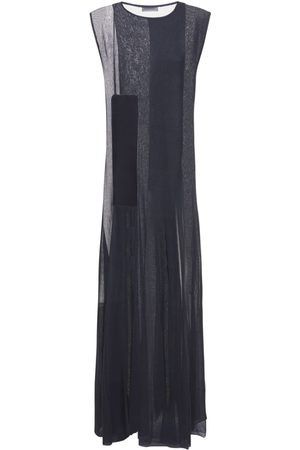 Jil Sander Silk Organza Sleeveless Long Dress