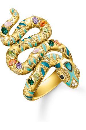 Thomas Sabo Kvinna Ringar - Ring färggrann orm guld