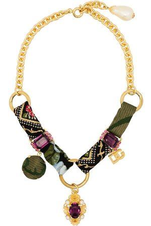 Dolce & Gabbana Strassprytt kedjehalsband