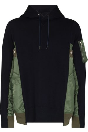 SACAI Man Hoodies - Tvåfärgad hoodie med panel