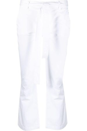 Liu Jo Kvinna Utsvängda byxor - Utsvängda byxor med knytning