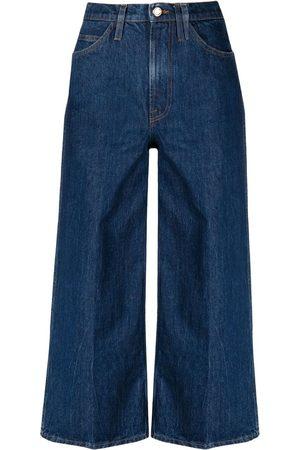 Frame Kvinna Bootcut - Croppade wide leg-jeans