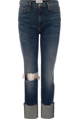 Frame Jeans Le Nouveau Straight Raw Big Cuff