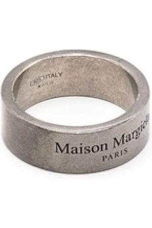Maison Margiela Logo Ring Semi Polished Silver