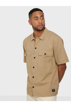 Dr Denim Joel Worker Shirt Skjorta Sand