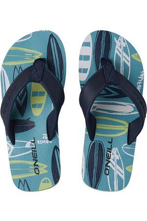 O'Neill Arch Print Sandals blue aop w/ yellow