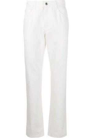 Salvatore Ferragamo Man Straight - Straight-jeans med logotyp