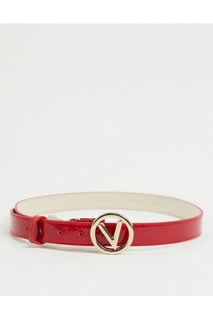 VALENTINO – Rött skärp med rund logga