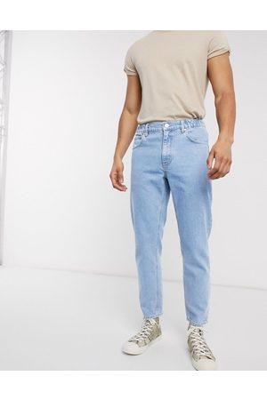 ASOS – Classic – Ljusblå jeans utan stretch med elastisk midja