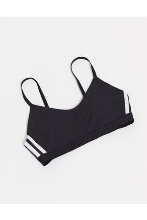 adidas Adidas – Träning – sportbehå med smala axelband, 3 ränder och stöd för lågintensiv träning