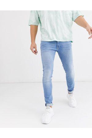 Jack & Jones Intelligence – Liam – Ljusblå skinny jeans med stretch