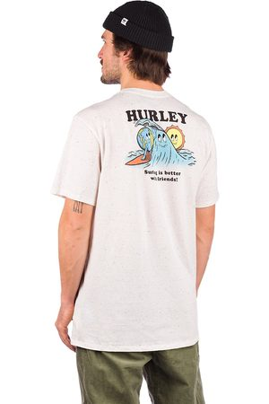 hurley Evd Reg Earth And Surfs T-Shirt white/multi/color
