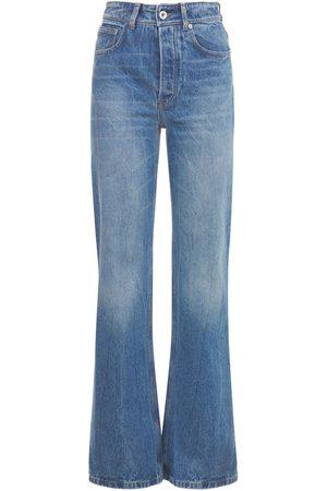 Paco rabanne Cotton Denim Flared Jeans