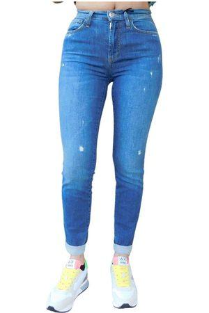 ROŸ ROGER'S Jeans super stretch con strappi