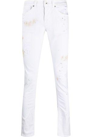 Dondup Slim fit-byxor med målat tryck