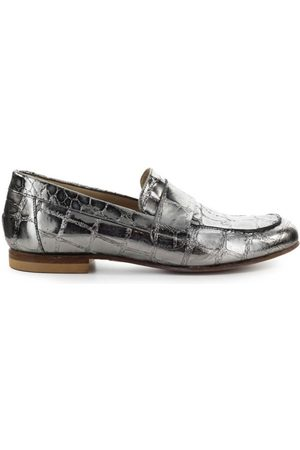 Strategia Crocodile Print Steel Loafers