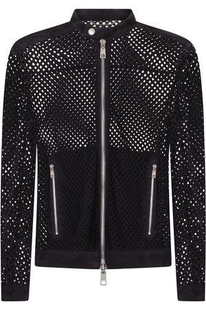 Dolce & Gabbana Perforated suede jacket