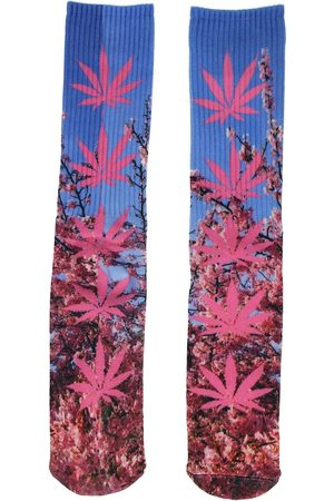 Huf Man Strumpor - Digital Plantlife Socks pink