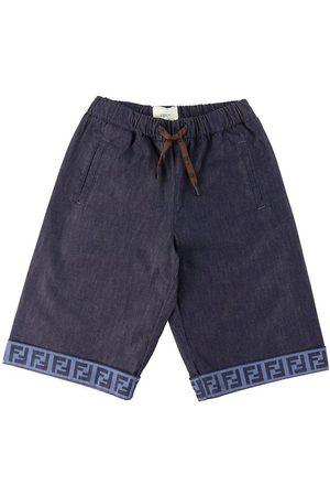 Fendi Pojke Shorts - Shorts - Navy m. Logo