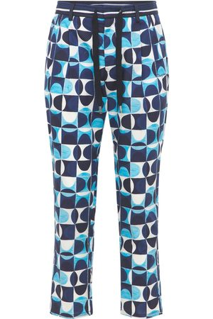Dolce & Gabbana Geometric Cotton Poplin Jogging Pants