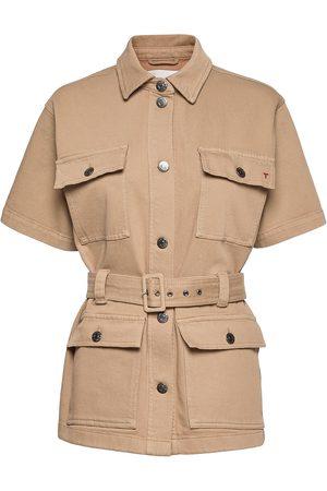 Tomorrow Kvinna Jackor - Mandela Ss Pocket Jacket Khaki Outerwear Jackets Utility Jackets Beige