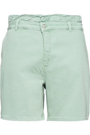 Zizzi Kvinna Shorts - Shorts Cotton Plus Comfortable Shorts Denim Shorts