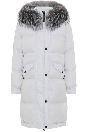Mr & Mrs Italy Long Down Jacket With FOX FUR