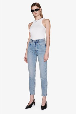 ANINE BING Sonya Cotton Jean In Washed Blue