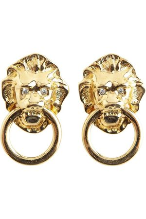 Kenneth Jay Lane Lion ring earrings