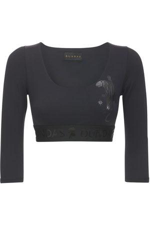 Dundas Kvinna Långärmade - Long Sleeved Lycra Top W/ Logo Details
