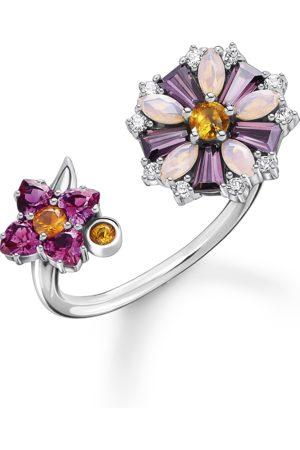 Thomas Sabo Kvinna Ringar - Ring Blommor stenar i färg silver