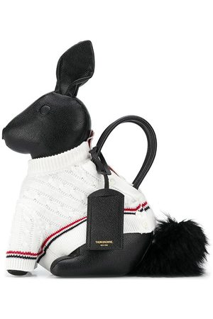 Thom Browne Rabbit tote-väska med stickad tröja