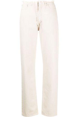 Maison Margiela Kvinna Straight - Straight-jeans med fransar