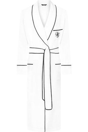 Dolce & Gabbana Logo-embroidered linen robe