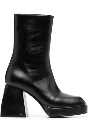 NODALETO Block-heel leather boots