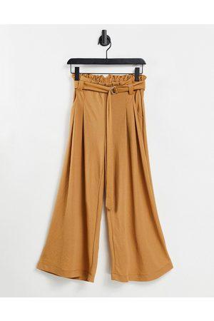 Vero Moda – Gulbruna culotte-byxor