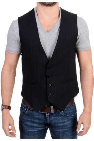 Costume National Man Västar - Striped casual vest