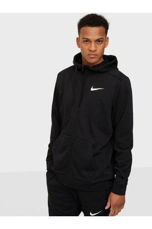 Nike Man Träninghoodies - M Nk Df Hdie Fz Fl Träningströjor Svart/Vit