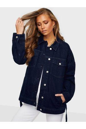 GANT D1. Oversized Belted Denim Jacket Jeansjackor
