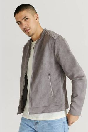 William Baxter Jacka Fake Suede Racer Jacket