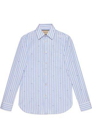 Gucci Man Skjortor - GG stripe fil coupé tailored shirt