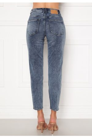 Pieces Lili Slim MW Jeans Light Blue Denim XS